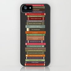 Ghostbusters stacked books iPhone (5, 5s) Slim Case