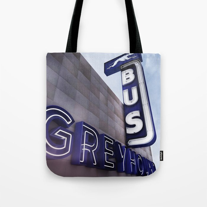 Greyhound Bus Station Color Tote Bag By Carlosoutpost Society6