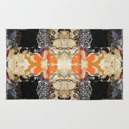 MANDALA Abstract Geometric Pattern Art by Michel Keck Rug