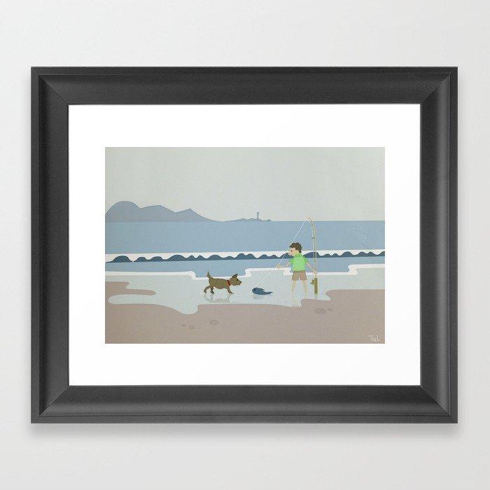 Fish And Dog Beach Wall Art Nursery Decor For