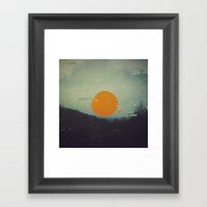 S/U/N Framed Art Print