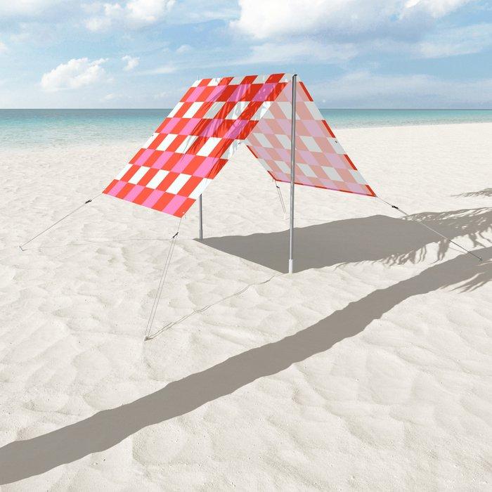 Red Chessboard Sun Shade