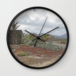 Rural Lanzarote Wall Clock