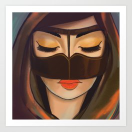 Burqa Beauty Art Print
