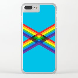crossing rainbows Clear iPhone Case