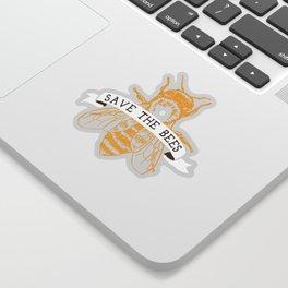 Save The Bees (Dark) Sticker