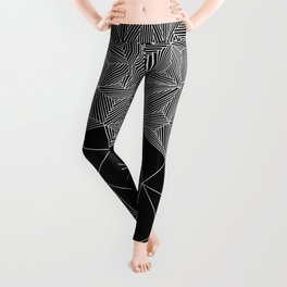 Digital Zentangle Incomplet Dark Leggings
