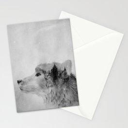 Wolf (B&W) Stationery Cards