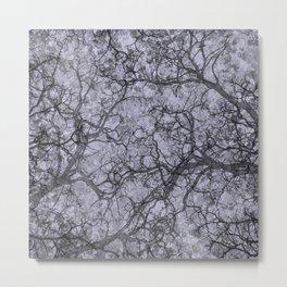 Periwinkle Purple Hunting Camo Pattern Metal Print