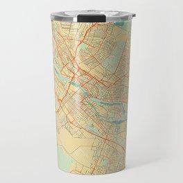 Bremen Map Retro Travel Mug