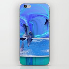 Leaping Dolphins iPhone Skin