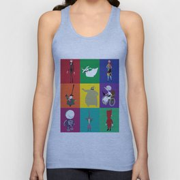 nightmare before christmas characters Unisex Tank Top