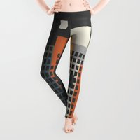 architecture Leggings featuring architecture and morality by Heinz Aimer