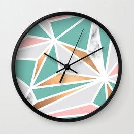 Geometry Gold 048 Wall Clock