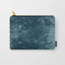 Peacock teal velvet Carry-All Pouch