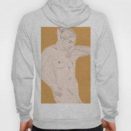 Nude figure line drawing Hoody