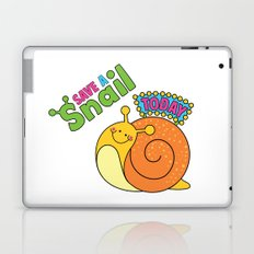 Save a Snail Today! Laptop & iPad Skin