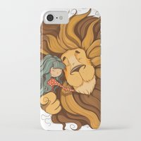 lion iPhone & iPod Cases featuring Lion by Tatiana Obukhovich