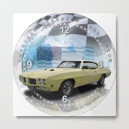 "1970 Pontiac GTO Judge Decorative 10"" Wall Clock (020ac) Metal Print"