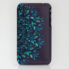 Blue Leaves Mandala iPhone (3g, 3gs) Slim Case