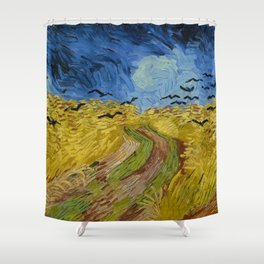 Wheatfield with Crows Painting by Vincent van Gogh Shower Curtain