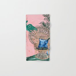 Peacock Chair in Pink Jungle Interior Hand & Bath Towel