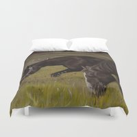 horses Duvet Covers featuring Horses by Andrea Vreken Art
