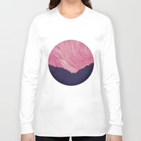 northern lights Long Sleeve T-shirts featuring Northern lights 2 by Richard Seyb