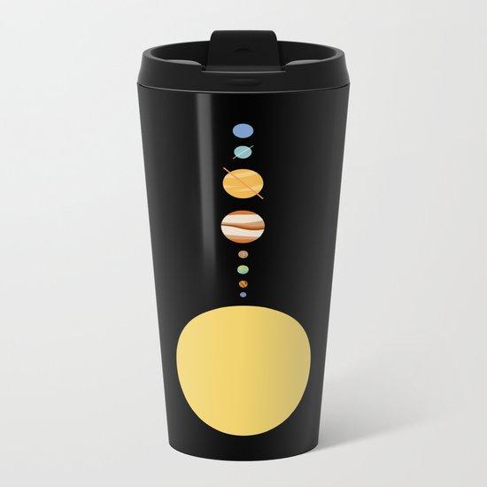 Minimal Solar System Metal Travel Mug