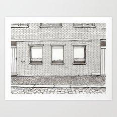 Flowers in the Windowsill Art Print