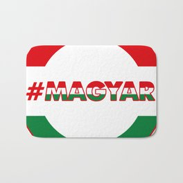 Hashtag Magyar, circle, color Bath Mat