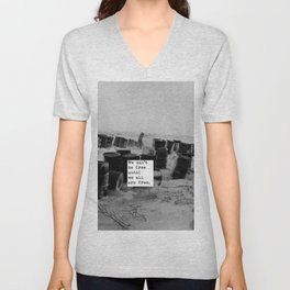 One day we'll all be free. Unisex V-Neck