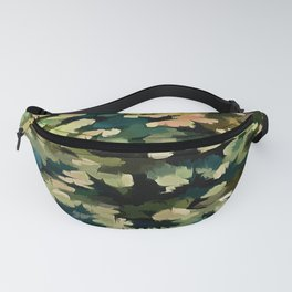 Foliage Abstract In Green, Peach and Phthalo Blue Fanny Pack