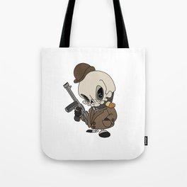 Cute Gangster Skull Tote Bag