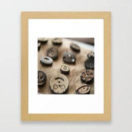 Beloved Buttons  Framed Art Print