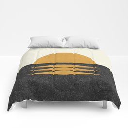 Sunset Geometric Comforters