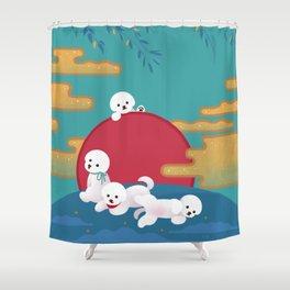 Year of dog Shower Curtain