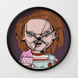 Chucky is a good boy (toy) Wall Clock