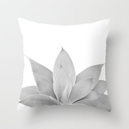 Gray Agave #1 #tropical #decor #art #society6 Throw Pillow