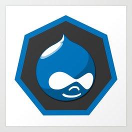 drupal logo sticker Art Print