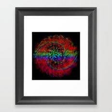 Rainbow Drain Framed Art Print