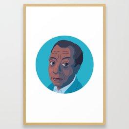 Queer Portrait - James Baldwin Framed Art Print