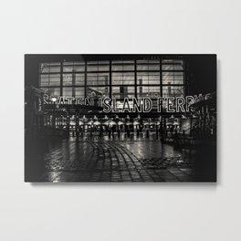 Staten Island Ferry in the rain Metal Print
