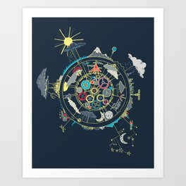 Running Like Clockworld Art Print