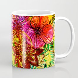 Tropical Hot Heat Flower Hibiscus Garden Coffee Mug