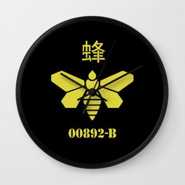 Breaking Bad golden chemical stencil Wall Clock
