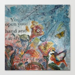 Psalm 145:16 Canvas Print