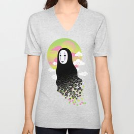 No Face and Soot Sprites Unisex V-Neck