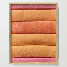 Orange Peach Colored Bubble Gum Layers Serving Tray