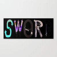 sword Canvas Prints featuring Sword by Dymond Speers
